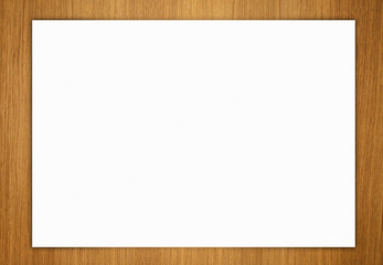 Paper on wood background horizontal