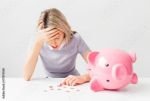 Woman having financial / money problems - 77874508