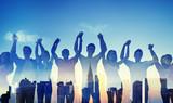 Diversity Casual Teenager Team Success Winning Concept - 77875581