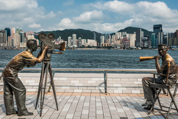 statues Avenue of Stars Tsim Sha Tsui Kowloon Hong Kong