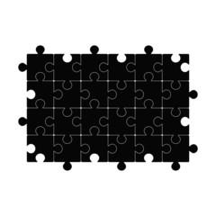Black puzzle template. Vector illustration