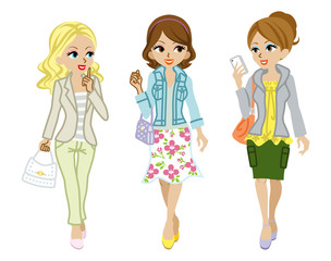Walking Girls Spring clothes
