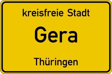 Gera in Thüringen