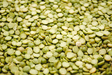 A Back Ground of Green Split Peas