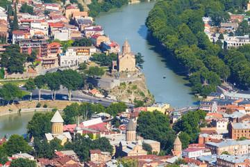 Panoramic view of Tbilisi, capital of Georgia.