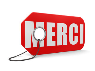 Label merci (clipping path included)