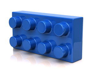Building and construction blue toy brick