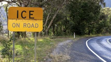 ice on road