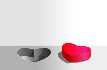 Heart-shaped hole and cover image
