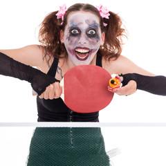 Horror Motiv einer Verrückten Frau