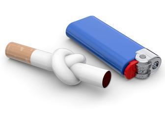Stop Smoking Concept - 3D