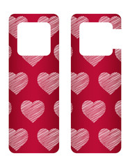 door tags with Valentine's day design