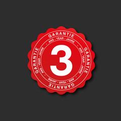 icône garantie 3 ans