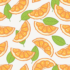 Orange slice seamless pattern