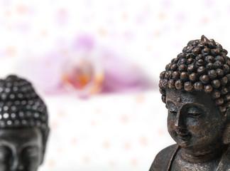 Buddha, Orchidee, Zen