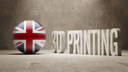 United Kingdom.  3d Printing Concept