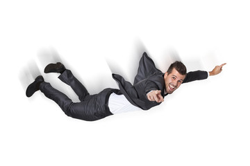 Business Man Falling from the sky
