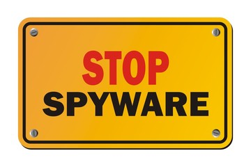 stop spyware - warning sign