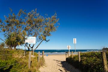 Entry to Dicky beach