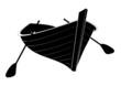 Barque en bois - ombre noire - 77881392