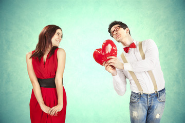 Funny Valentine's Day, series of different approaching acts