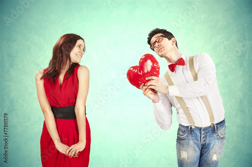 Funny Valentine's Day, series of different approaching acts - 77881579