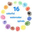 Handpaint watercolor vector background. - 77881732