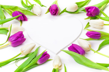 Tulpen, Holzherz, Herz