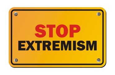 stop extremism - warning sign