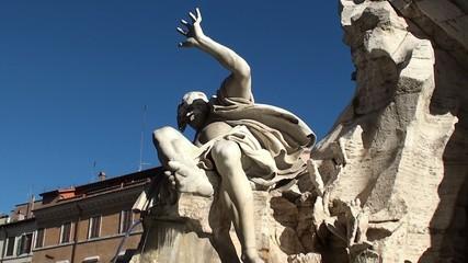 Fountain of the Four Rivers. God of the Rio de la Plata. Rome