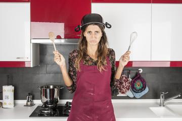 svogliata in cucina