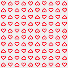Light Abstract Background with Red Heart Signs