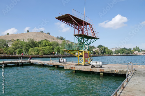 Fotobehang Stadion Diving Board into the water in Kerch