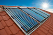 Vacuum collectors- solar water heating system - 77883975