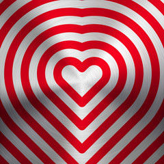 Abstract Heart Sign on Metal Texture