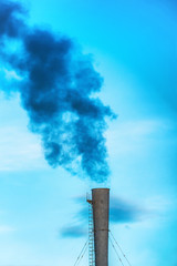 Industrial black toxic smoke