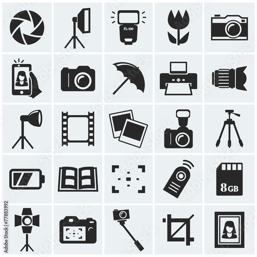 Photo icons. Vector icons. - 77883992