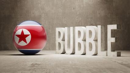 North Korea. Bubble  Concept.