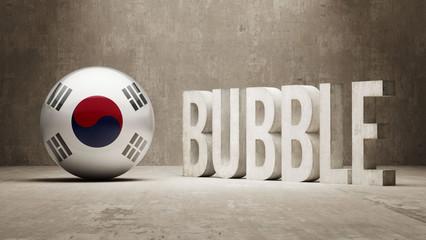 South Korea. Bubble  Concept.