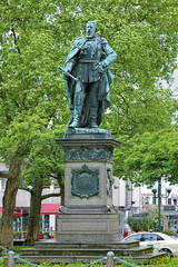 Statue of Emperor Friedrich III in Wiesbaden, Germany
