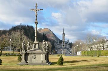 Winter view of Lourdes