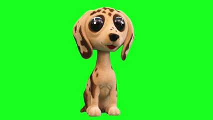 funny and cute toy dog accessory for cars green screen