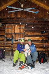 Skitour – Gipfelhütte mit Hund