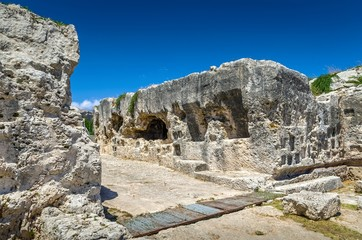 Byzantine tomb above the Greek theater, Syracuse, Sicily.