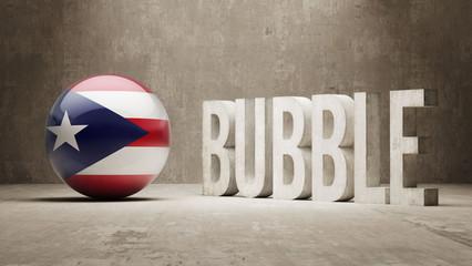 Puerto Rico. Bubble  Concept.