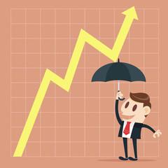 Up yellow arrow economic growth