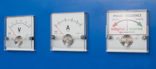 Measurement equipment on a panel