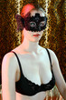 canvas print picture - Frau mit Maske auf Maskenball