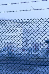 wire fence of Fuel Tanks