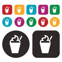 Frappuccino icon / Soft drink icon / Milk shake icon